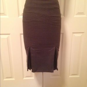 Body by Victoria wool-blend pleated pencil skirt